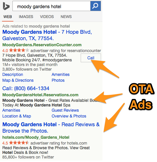 Moody Gardens Bing Mobile