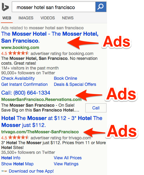 Mosser Hotel Bing Mobile